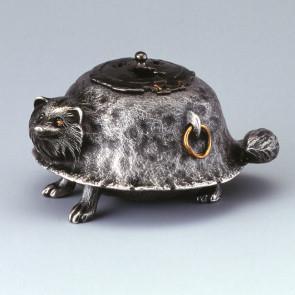 sk53-21, silver incense burner, fork tale pattern, Kama shape