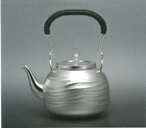 obg-n120,大渊光则作 纯银泡茶壶 波浪纹 约0.4L,银壶