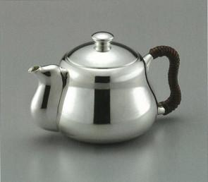 obg-n014, 大渊光则作 纯银泡茶壶 亮面 约0.2L 银壶