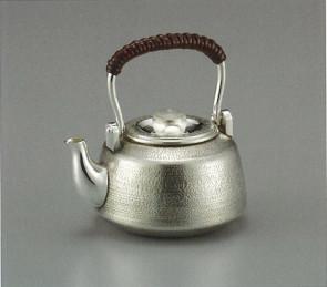 obg-n001, 纯银泡茶壶 末广形 提手把 约0.2L 银壶