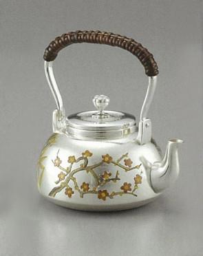 obg-n024, 大渊光则作 幸福和喜庆的象征 松竹梅纯银银壶 约0.2L 银壶