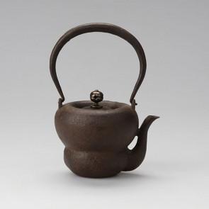 hn2796, 葫蘆小鐵壺 般若勘溪作 約0.4L, 鐵壺