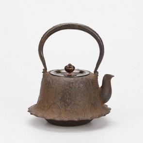 hn2996, 金龍堂模本 荷葉鐵壺 般若勘溪作 約0.7L 鐵壺