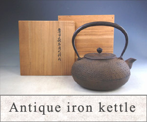 Antique iron kettle